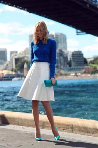 С чем одеть белую юбку солнце