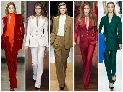 Мода Женские Брючные Костюмы