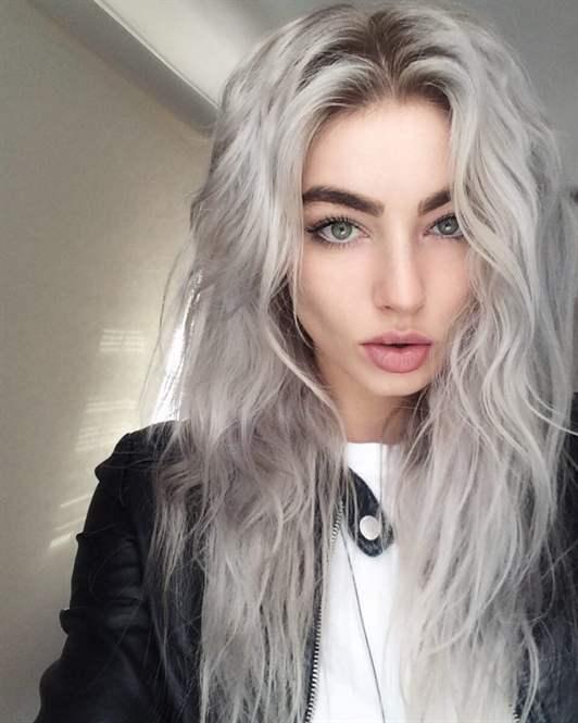 Серый пепельный цвет волос