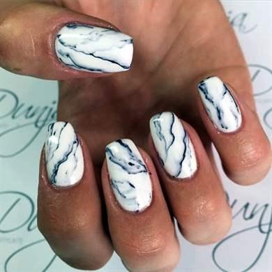 Мрамор на ногтях гель лаком