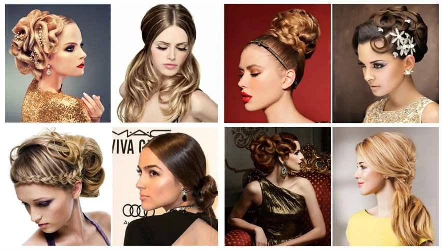 Модные праздничные прически 2018 женские на средние волосы фото