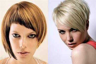 Короткая причёска с косой чёлкой