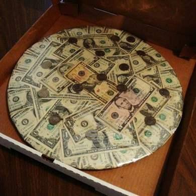 как сделать пиццу из денег