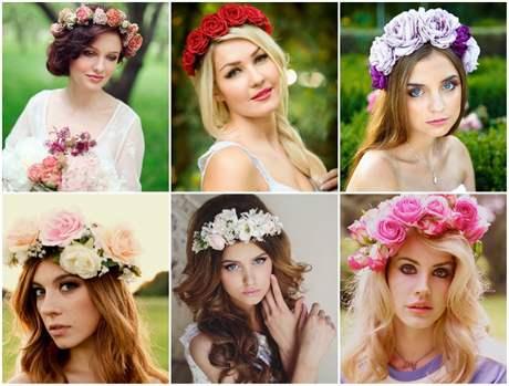 Свадебный венок из живых или искуственных цветов - как подобрать и