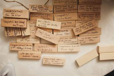 Jenga guest book wedding