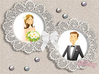 Открытки с кружевной свадьбой 17