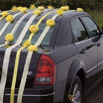 как сделать украшения на свадьбу на машину своими руками