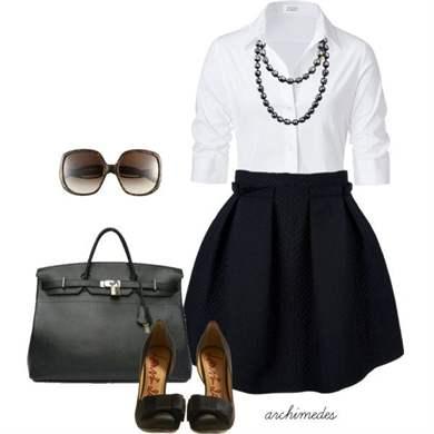 С чем носить белую блузку в школу