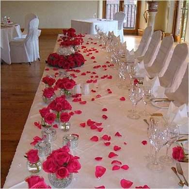 Оформить стол на свадьбу своими руками