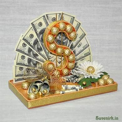Как сделать букет из денег и конфет