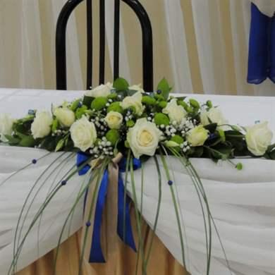 Свадебная композиция на стол молодоженов своими руками 1