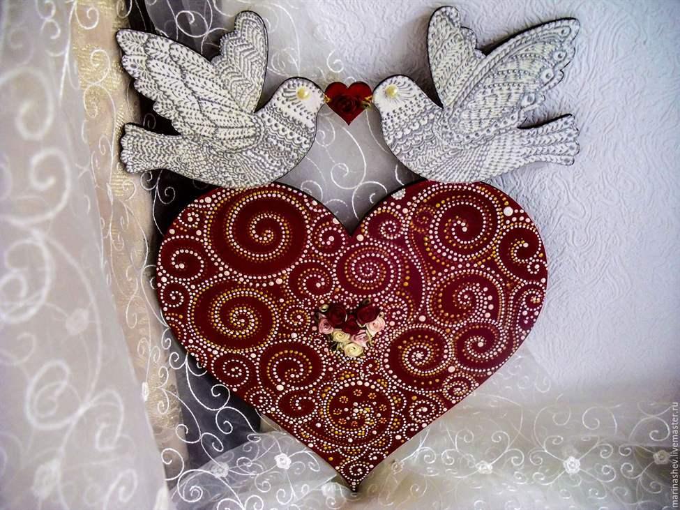 Сделать сердце своими руками свадебное 456