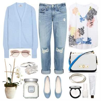 Рваные джинсы-бойфренды с завышенной талией подойдут для прогулки в парке или встречи с друзьями в уютном городском