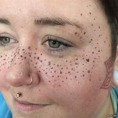 Как на лице сделать веснушки на лице