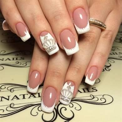 Дизайн ногтей с белым цветом