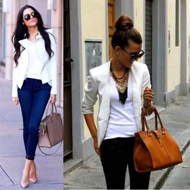 Что надеть с белым пиджаком