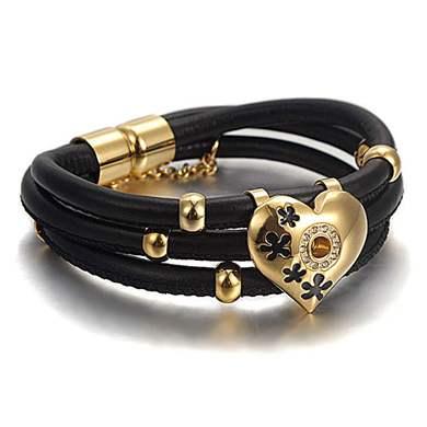 Женские кожаные браслеты модные