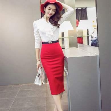 e6fe91bc5ab Красная юбка миди особенности модели и правила комбинирования – Блог ...