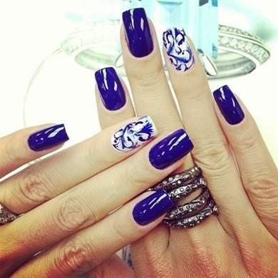 Стильные квадратные ногти