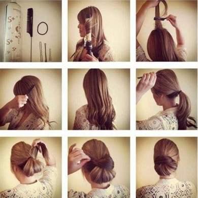 Картинки причёски на каждый день своими руками