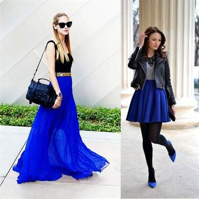 Голубая юбка какой верх