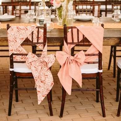 Украсить стулья своими руками на свадьбу