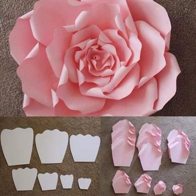 Как сделать объемную розу из бумаги поэтапно
