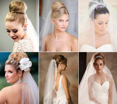 Виды причесок невесты