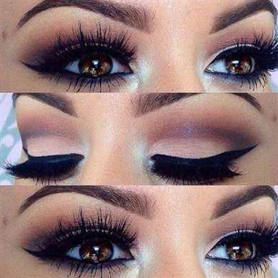 Вечерний макияж только глаза