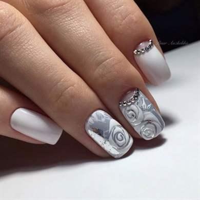 Лепка акрилом на ногтях: дизайн с фото и видео для начинающих