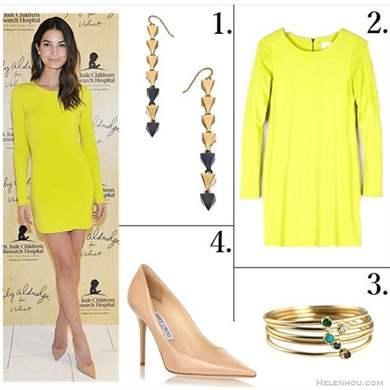 Желтое платье и туфли
