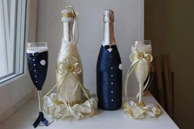 Бутылки на свадьбу мастер класс