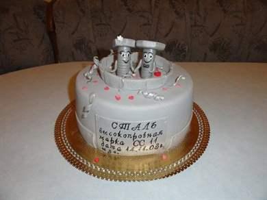 Прикольный подарок на стальную свадьбу 50
