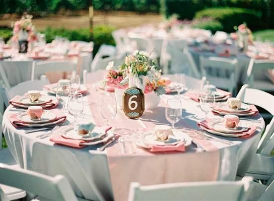 Круглые столы свадебные