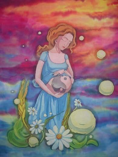 Рисунок беременной женщины двойней 272