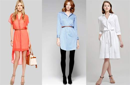 С чем носить платья рубашки