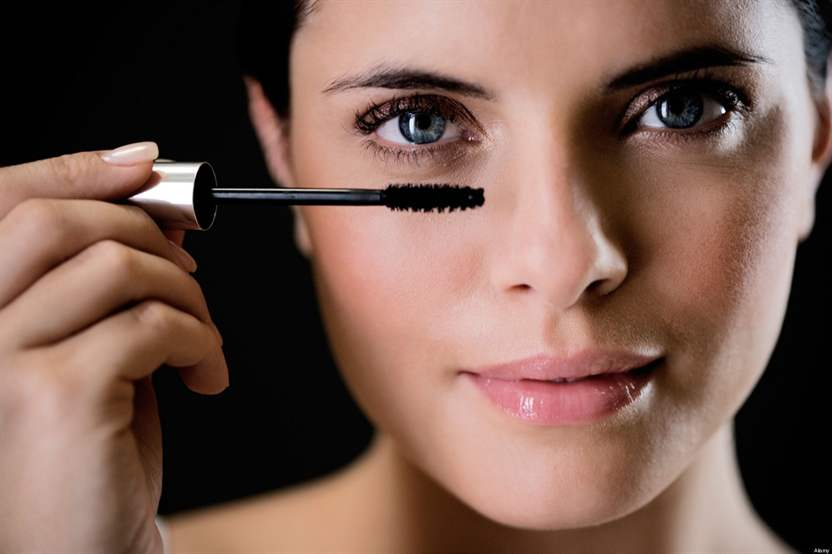 При макияжа не красить ресницы
