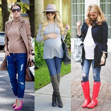 Модные образы беременных