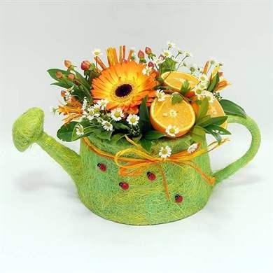 Необычные цветочные композиции из живых цветов своими руками 89