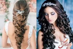 Прическа свадебная на длинные волосы-распущенные фото