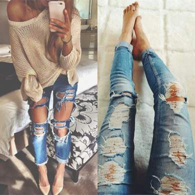 Как в домашних условиях разрезать джинсы