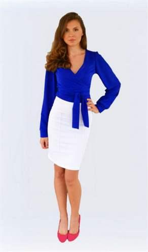 Синяя Юбка И Белая Блузка