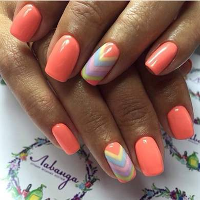 Модный летний дизайн ногтей