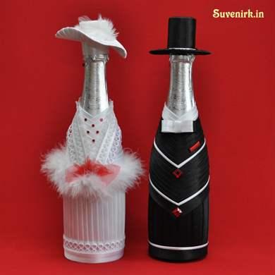 Украсить бутылку шампанского своими руками мастер класс 17