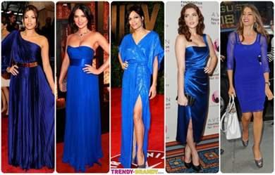 Какие туфли подойдут под синее платье