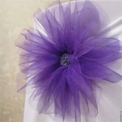 Цветы из фатина своими руками фото пошагово в