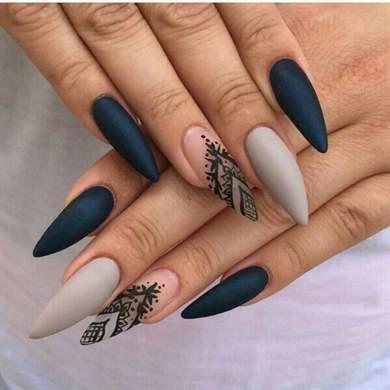 Маникюр на длинные ногти (39 фото идеи красивого дизайна 2018 на) 27