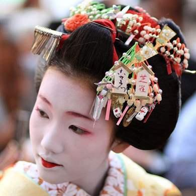 традиционные японские женские прически