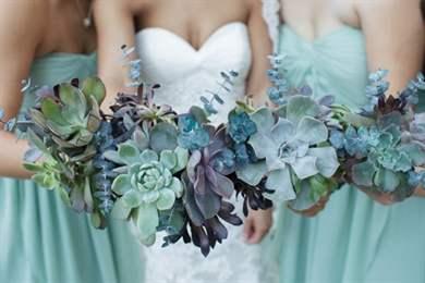 Свадебные букеты с суккулентами - составление красивых букетов