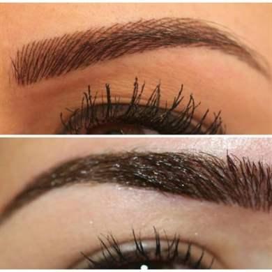 Перманентный волосковый макияж бровей фото